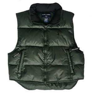 Polo Ralph Lauren Sport Green Puffer Down Vest